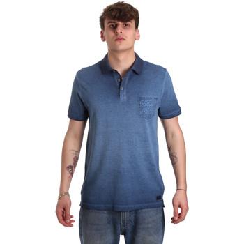 tekstylia Męskie Koszulki polo z krótkim rękawem Gaudi 011BU64017 Niebieski