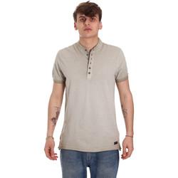 tekstylia Męskie Koszulki polo z krótkim rękawem Gaudi 011BU64018 Beżowy