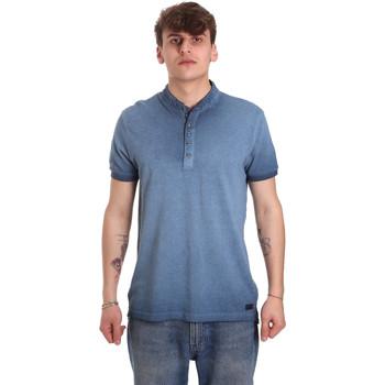 tekstylia Męskie Koszulki polo z krótkim rękawem Gaudi 011BU64018 Niebieski