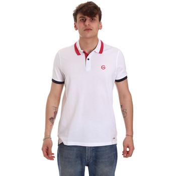 tekstylia Męskie Koszulki polo z krótkim rękawem Gaudi 011BU64043 Biały