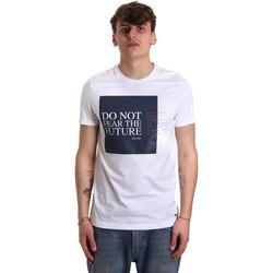tekstylia Męskie T-shirty z krótkim rękawem Gaudi 011BU64067 Biały