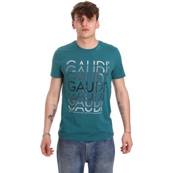 tekstylia Męskie T-shirty z krótkim rękawem Gaudi 011BU64068 Zielony