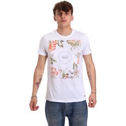 tekstylia Męskie T-shirty z krótkim rękawem Gaudi 011BU64070 Biały