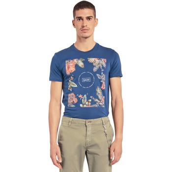tekstylia Męskie T-shirty z krótkim rękawem Gaudi 011BU64070 Niebieski