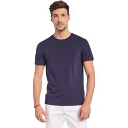 tekstylia Męskie T-shirty z krótkim rękawem Gaudi 011BU64087 Niebieski