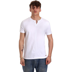 tekstylia Męskie T-shirty z krótkim rękawem Gaudi 011BU64094 Biały