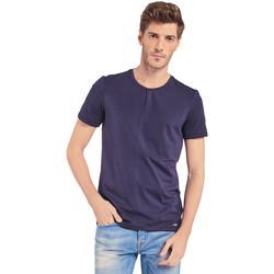 tekstylia Męskie T-shirty z krótkim rękawem Gaudi 011BU64094 Niebieski