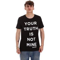 tekstylia Męskie T-shirty z krótkim rękawem Gaudi 011BU64107 Czarny