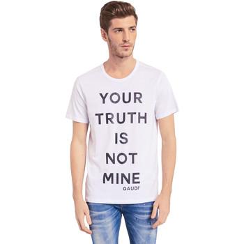 tekstylia Męskie T-shirty z krótkim rękawem Gaudi 011BU64107 Biały