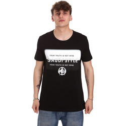 tekstylia Męskie T-shirty z krótkim rękawem Gaudi 011BU64108 Czarny