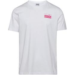 tekstylia Męskie T-shirty z krótkim rękawem Diadora 502175837 Biały