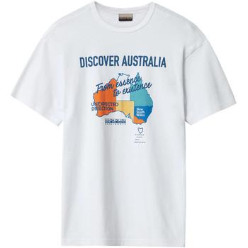 tekstylia Męskie T-shirty z krótkim rękawem Napapijri NP0A4E8H Biały