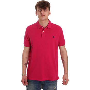 tekstylia Męskie Koszulki polo z krótkim rękawem U.S Polo Assn. 55957 41029 Różowy