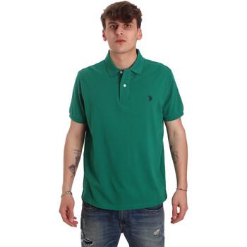 tekstylia Męskie Koszulki polo z krótkim rękawem U.S Polo Assn. 55957 41029 Zielony