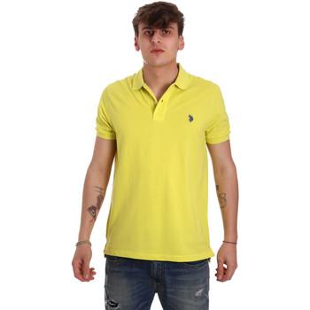 tekstylia Męskie Koszulki polo z krótkim rękawem U.S Polo Assn. 55957 41029 Żółty