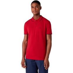 tekstylia Męskie Koszulki polo z krótkim rękawem Wrangler W7D5K4X47 Czerwony