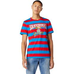 tekstylia Męskie T-shirty z krótkim rękawem Wrangler W7E1FKXKL Niebieski