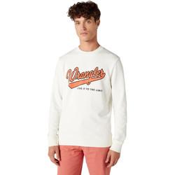 tekstylia Męskie Bluzy Wrangler W6A5HA737 Biały
