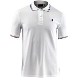 tekstylia Męskie Koszulki polo z krótkim rękawem Lumberjack CM45940 009 506 Biały