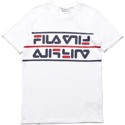 tekstylia Męskie T-shirty z krótkim rękawem Fila 687474 Biały