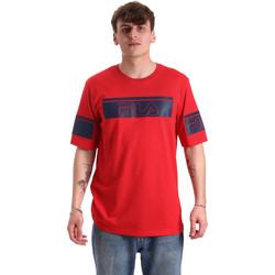 tekstylia Męskie T-shirty z krótkim rękawem Fila 683085 Czerwony