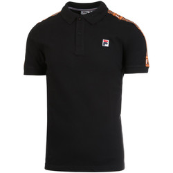 tekstylia Męskie Koszulki polo z krótkim rękawem Fila 687645 Czarny
