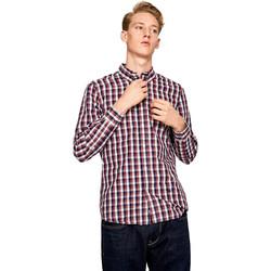 tekstylia Męskie Koszule z długim rękawem Pepe jeans PM306161 Niebieski