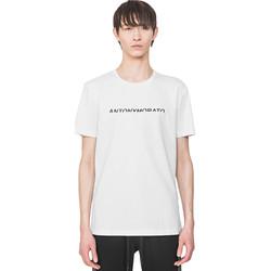tekstylia Męskie T-shirty z krótkim rękawem Antony Morato MMKS01754 FA100144 Biały