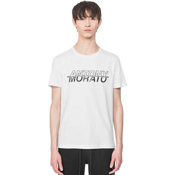tekstylia Męskie T-shirty z krótkim rękawem Antony Morato MMKS01816 FA100144 Biały