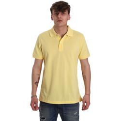 tekstylia Męskie Koszulki polo z krótkim rękawem Geox M0210B T2649 Żółty