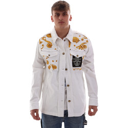 tekstylia Męskie Kurtki lekkie Versace C1GVB92GHRC33003 Biały