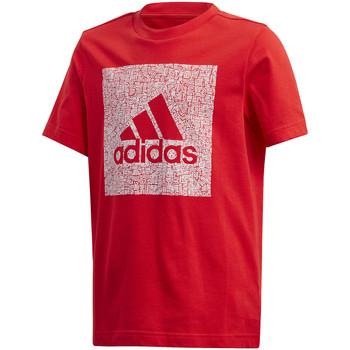 tekstylia Dziecko T-shirty z krótkim rękawem adidas Originals FM4489 Czerwony