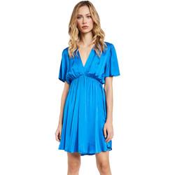 tekstylia Damskie Sukienki krótkie Gaudi 011FD15061 Niebieski