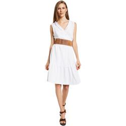 tekstylia Damskie Sukienki krótkie Gaudi 011BD15037 Biały