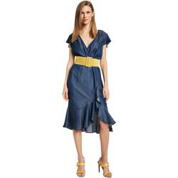 tekstylia Damskie Sukienki krótkie Gaudi 011BD16001 Niebieski
