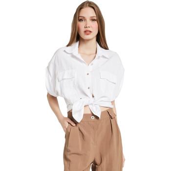 tekstylia Damskie Koszule Gaudi 011BD45030 Biały