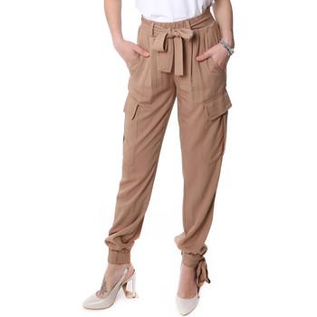 tekstylia Damskie Spodnie bojówki Fracomina FR20SP127 Beżowy