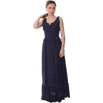 tekstylia Damskie Sukienki długie Fracomina FR20SP588 Niebieski