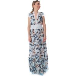 tekstylia Damskie Sukienki długie Fracomina FR20SP432 Niebieski