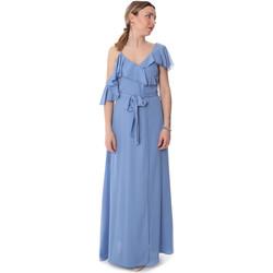 tekstylia Damskie Sukienki długie Fracomina FR20SP031 Niebieski