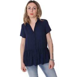tekstylia Damskie Koszule Fracomina FR20SP039 Niebieski