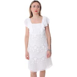 tekstylia Damskie Sukienki krótkie Fracomina FR20SP584 Biały