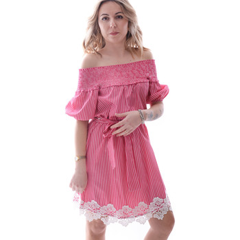 tekstylia Damskie Sukienki krótkie Fracomina FR20SP526 Czerwony
