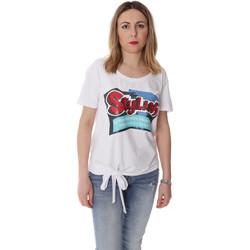 tekstylia Damskie T-shirty z krótkim rękawem Fracomina FR20SP303 Biały