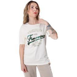 tekstylia Damskie T-shirty z krótkim rękawem Fracomina FR20SP305 Biały