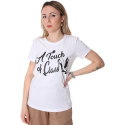 tekstylia Damskie T-shirty z krótkim rękawem Fracomina FR20SP306 Biały