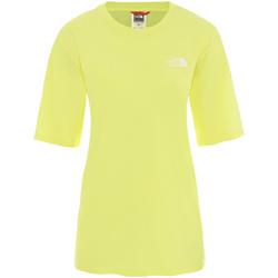 tekstylia Damskie T-shirty z krótkim rękawem The North Face NF0A4CESVC51 Żółty