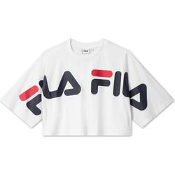 tekstylia Damskie T-shirty z krótkim rękawem Fila 687497 Biały