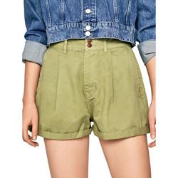 tekstylia Damskie Szorty i Bermudy Pepe jeans PL800895 Zielony