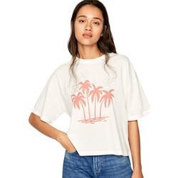 tekstylia Damskie T-shirty z krótkim rękawem Pepe jeans PL504468 Beżowy